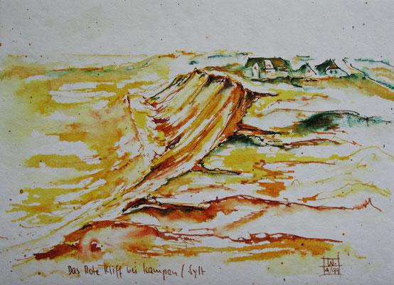 Rotes Kliff_Sylt_15x20 cm