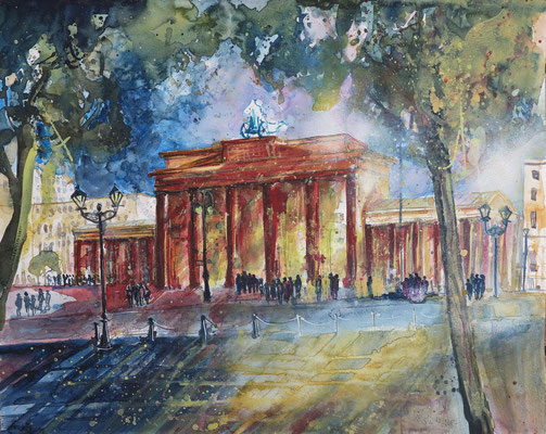Berlin_Brandenburger Tor_Aquarell 50x65 cm_10-2017