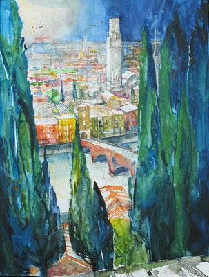 Verona_Blick vom Castel San Pietro 2_50x60 cm