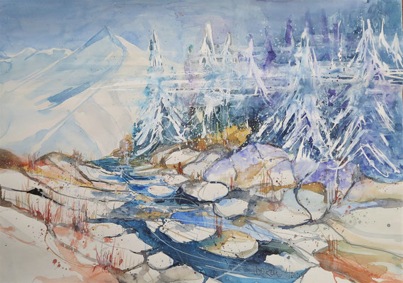 Winter im Pitztal_Aquarell 41x59 cm_1-2020