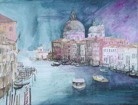 Venedig_Canal Grande mit Salute_Aquarell 56x76 cm_7-2018