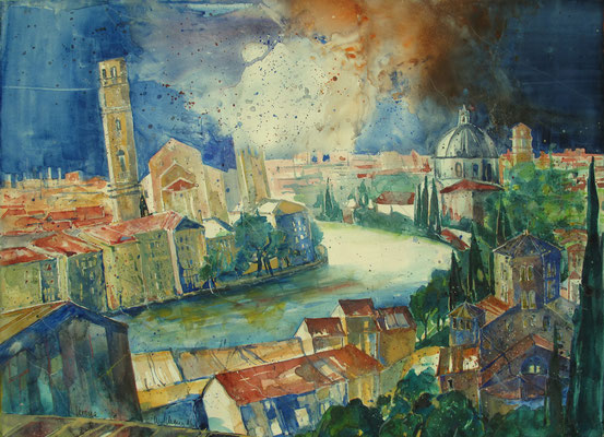 Verona_Blick vom Castel San Pietro 1_56x76 cm