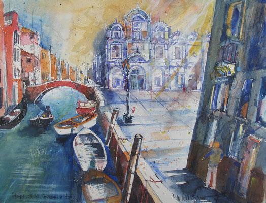 Venedig_Campo dei SS. Giovanni e Paolo_36x48 cm