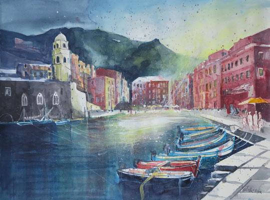 Cinque Terre_Vernazza 1_Aquarell 45x61 cm_3-2018