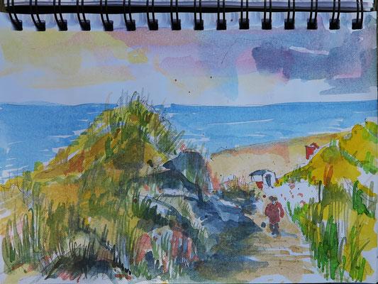 Dünenweg zum Strand_Sylt