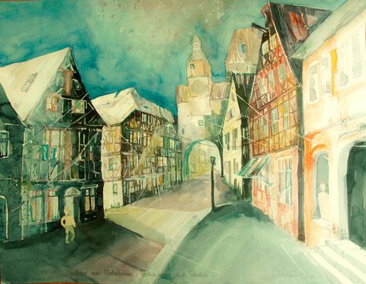 Stadttor mit Röderturm_Rothenburg o.d. Tauber_50x60 cm