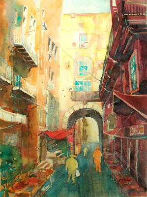 Altstadtgasse in Palermo_Italien_50x60 cm