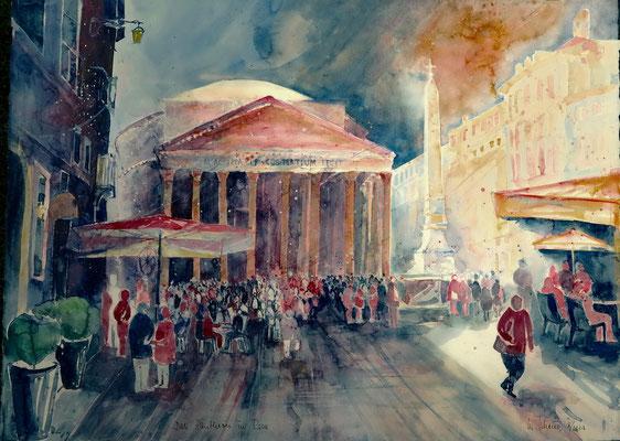 Rom_Piazza Rotonda mit Pantheon_56x76 cm