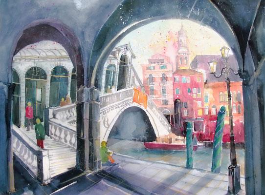 Venedig_Rialtobrücke_45,5x61 cm