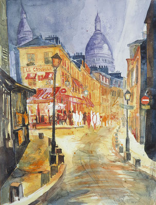 Paris_Montmartre mit Sacre-Coeur_Aquarell 36x48 cm_3-2017