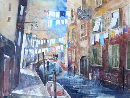 Venedig_Fondamenta del Forner_Aquarell 50 x 65 cm_2-2018