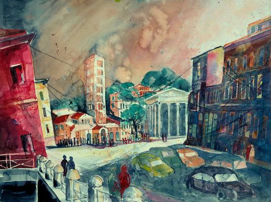 Rom_Piazza della Bocca della Verita_45,5x61 cm