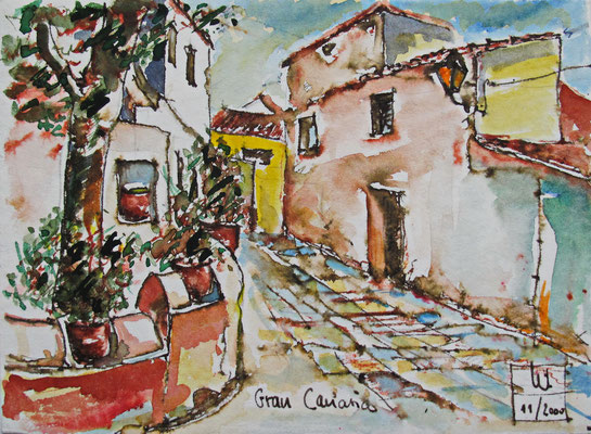 Gebirgsdorf Gran Canaria_13x18 cm