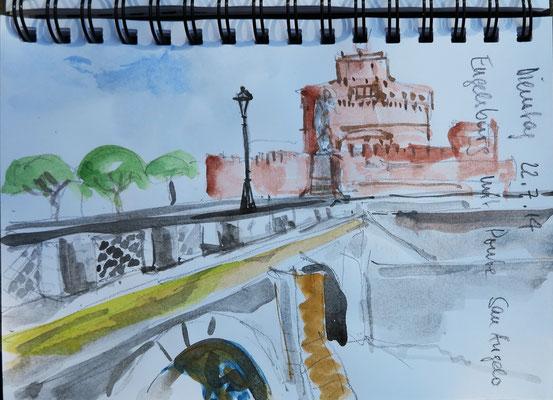 Ponte San Angelo mit Engelsburg_Rom