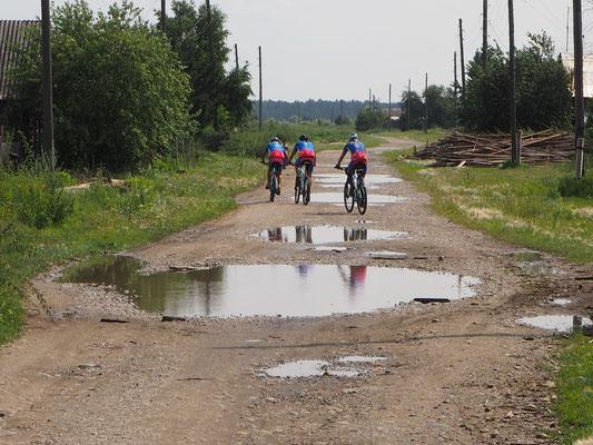 sibirische Dorfstrasse