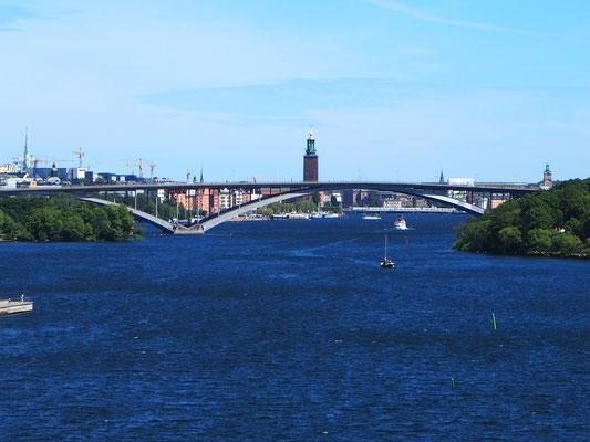 Blick gegen Stockholm