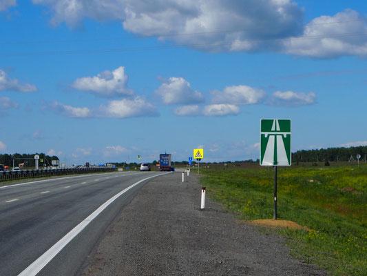 Fahrt auf der Autobahn