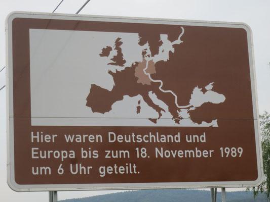 Grenze Bundesland Hessen/Thüringen