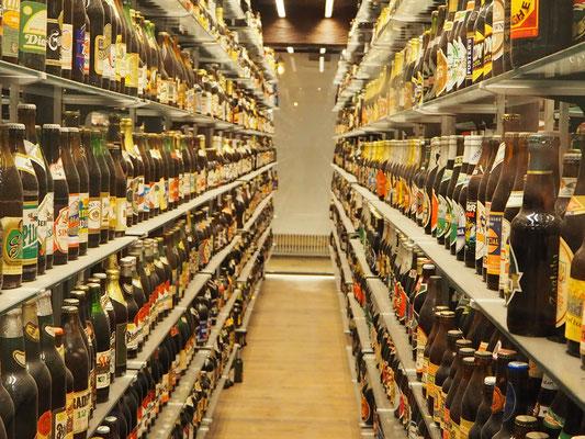 Im Bierhimmel, über 16000 ungeöffnete Flaschen