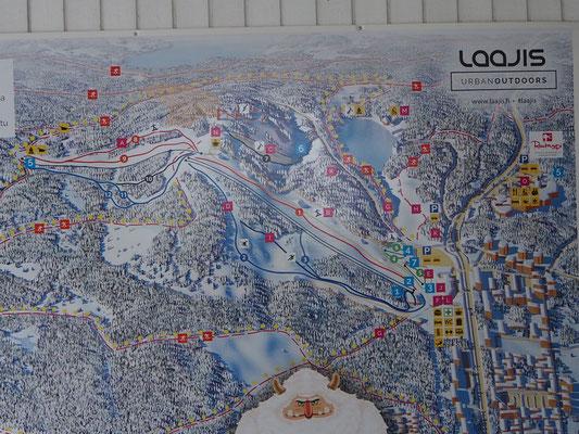 Pistenplan vom Skigebiet Jyväskylä