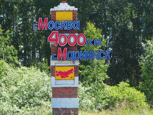 nur noch 4000 bis Moskau