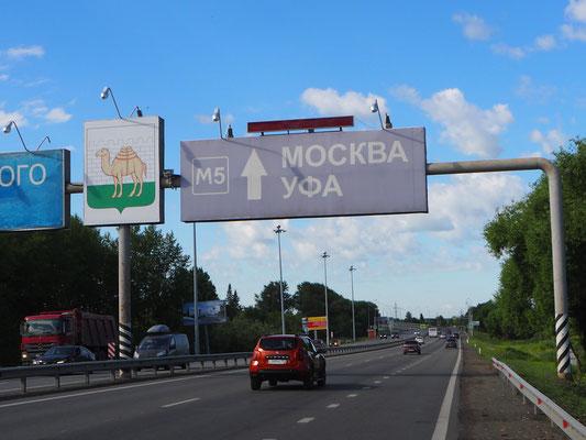 auf der richtigen Spur nach Moskau