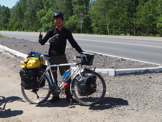 zwischen Krasnojarks und Novosibirsk getroffen: den Japaner Daisuke Takanashi