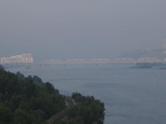Transsibbrücke über den Jenissei
