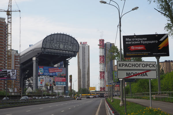 Ausfahrt aus Moskau