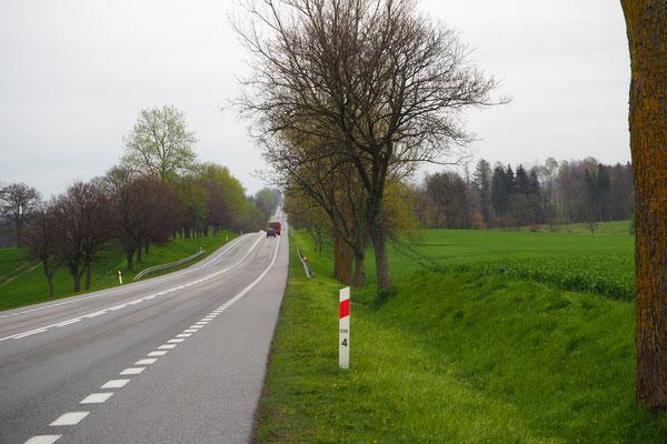 Auf der Hauptstrasse unterwegs, wenigstens ein Seitenstreifen