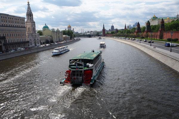 auf dem Moskwa River