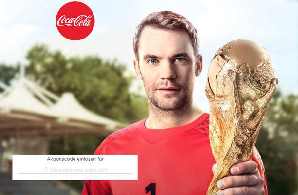 Unter coke.de/vereinsgeschichte können Vereine Aktionscodes sammeln