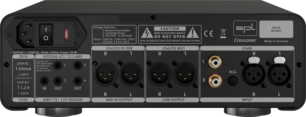 SPL Audio Crossover BACKSIDE