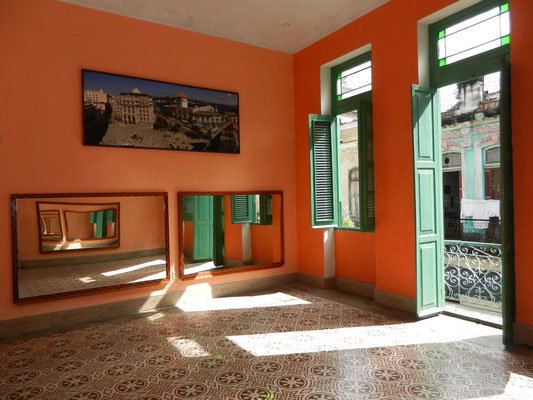 Main room for dance lessons - towards balcony