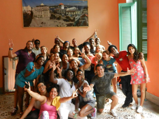 Dance teachers with group from Mexico
