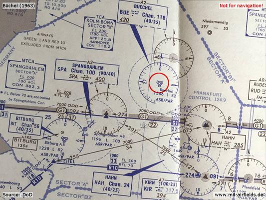 1963 Karte Flugplatz Büchel