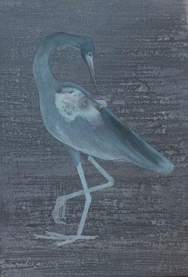 Der Vogel Selbsterkenntnis, Öl auf Leinwand, 100 x 70 cm, 2017