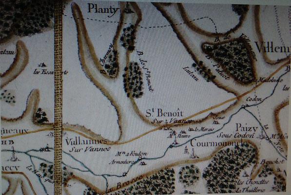 Ancienne carte de Vulaines