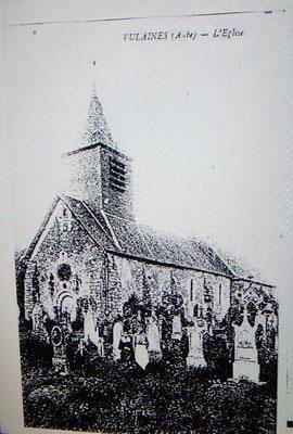 Carte Postale de l'Église Saint Antoine Ermite de VULAINES