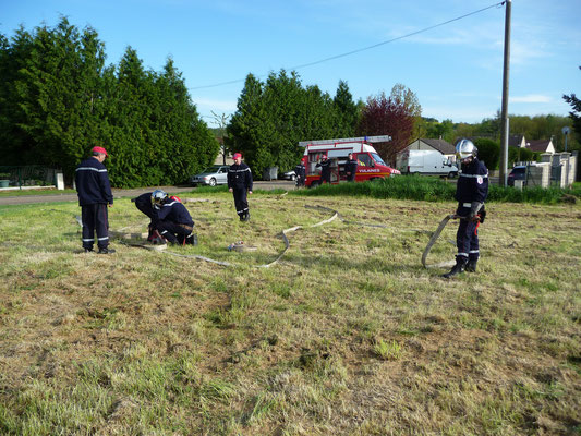 Les Pompiers en manoeuvres