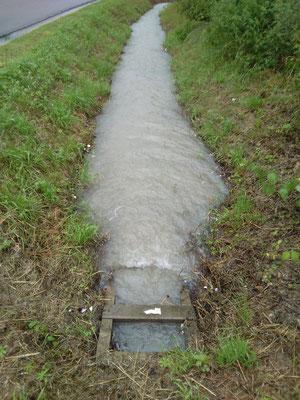 Fossé le long de la RD 54 après l'orage été 2017