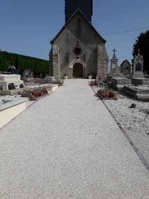 Entrée du Cimetière et Église Saint Antoine Ermite 2017