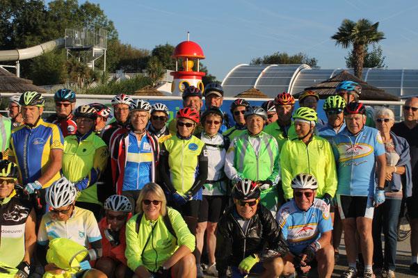 Une partie du groupe de la Cycl'Hauts de France 2018