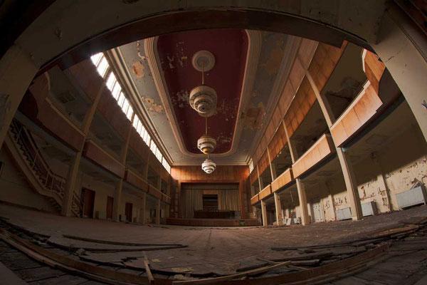 Der Festsaal des Hotel Fürstenhof, Eisenach - bis zu 1800 Personen fanden hier einst Platz