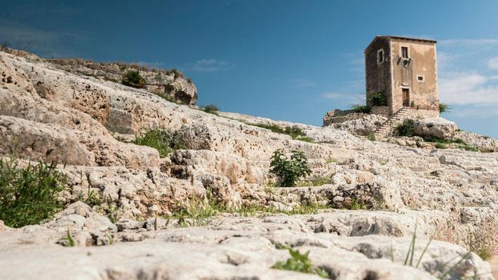 Am Teatro Greco im Archäologischen Park, Syrakus