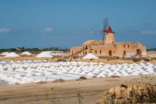Die Salinen von Marsala, Region Trapani, Sizilien
