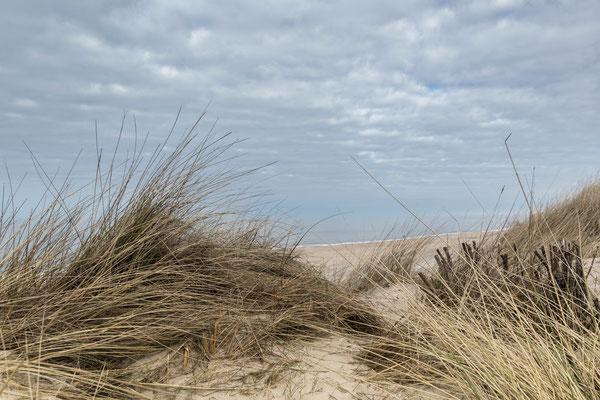 Entschleunigend - Der Blick in die menschenleere Weite des Strandes und des Himmels, Sylt