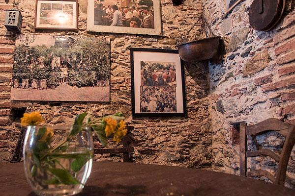 """Ein kleines Museum zum Film """"Der Pate"""" ist in der Bar Vitelli eingerichtet, Savoca, Sizilien"""