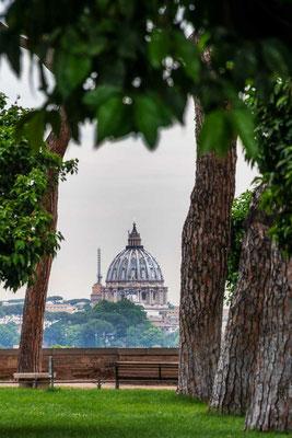 Die Orangerie Roms gewährt einen tollen Blick auf den Petersdom