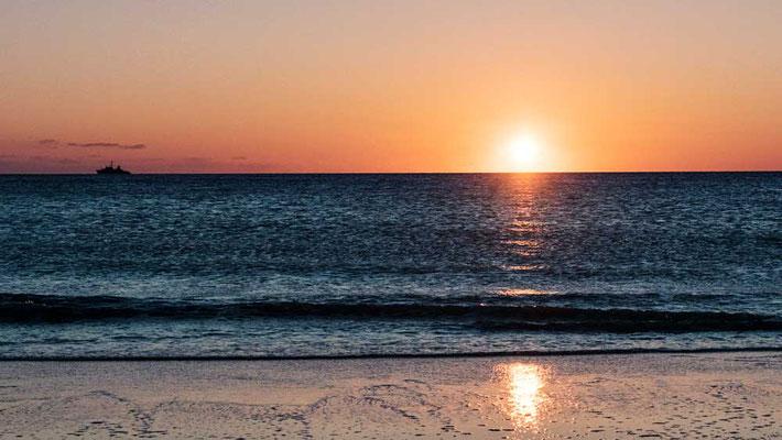 Sonnenuntergang genießen, Sylt
